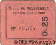 25 Centimes MAROC Casablanca 1919 MS.N08 pr.TTB