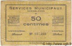 50 Centimes MAROC Casablanca 1919 MS.N09 TB