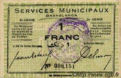 1 Franc MAROC Casablanca 1919 MS.N13 pr.TTB
