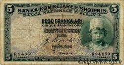 5 Franka Ari ALBANIE  1926 P.02 TB