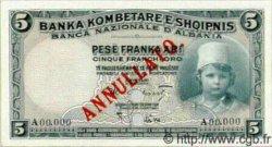 5 Franka Ari ALBANIE  1926 P.02s NEUF