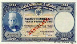 20 Franka Ari ALBANIE  1926 P.03s NEUF