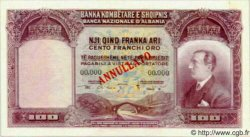 100 Franka Ari ALBANIE  1926 P.04s pr.NEUF