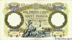20 Franga ALBANIE  1939 P.07 SUP+