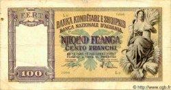 100 Franga ALBANIE  1944 P.08 TB