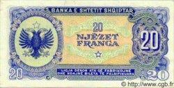 20 Franga ALBANIE  1945 P.16 pr.NEUF