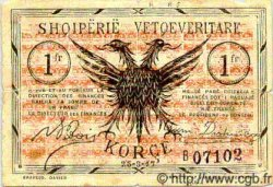 1 Franc ALBANIE  1917 PS.144a B+ à TB