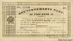 5 Ponds AFRIQUE DU SUD  1901 P.A60c SUP