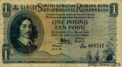 1 Pound AFRIQUE DU SUD  1955 P.083b TTB