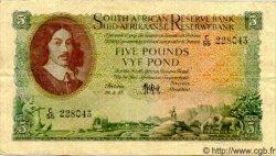 5 Pounds AFRIQUE DU SUD  1957 P.091b TTB+