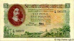 5 Pounds AFRIQUE DU SUD  1951 P.096a TTB+
