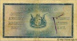 20 Pounds AFRIQUE DU SUD  1933 P.097b TB+