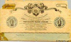 1 Pond AFRIQUE DU SUD  1868 PS.361b AB