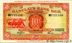 10 Shillings AFRIQUE DU SUD OUEST  1958 P.004b TTB+