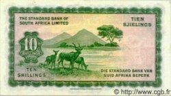 10 Shillings AFRIQUE DU SUD OUEST  1958 P.10 TTB+