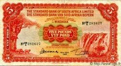 5 Pounds AFRIQUE DU SUD OUEST  1955 P.12a TB+