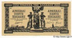 5000 Drachmes GRÈCE  1942 P.119a SPL