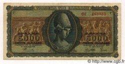 5000 Drachmes GRÈCE  1943 P.122 TTB