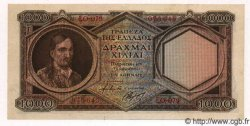 1000 Drachmes GRÈCE  1944 P.172 SUP