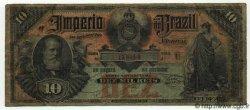 10 Mil Reis BRÉSIL  1885 P.A262 B à TB