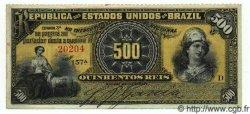 500 Reis BRÉSIL  1893 P.001a SUP