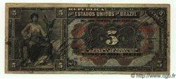 5 Mil Reis BRÉSIL  1909 P.022 TB à TTB