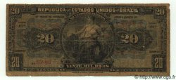 20 Mil Reis BRÉSIL  1909 P.044 B+