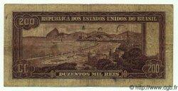 200 Mil Reis BRÉSIL  1936 P.082 TB