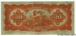 20 Cruzeiros sur 20 Mil Reis BRÉSIL  1942 P.127 TTB