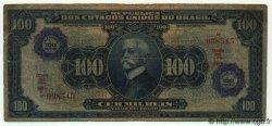 100 Cruzeiros sur 100 Mil Reis BRÉSIL  1942 P.129 B à TB