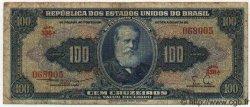 100 Cruzeiros BRÉSIL  1955 P.153a B+
