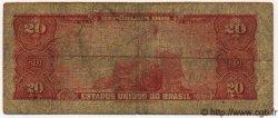20 Cruzeiros BRÉSIL  1961 P.168a B+