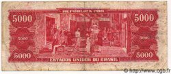 5000 Cruzeiros BRÉSIL  1964 P.182b TB