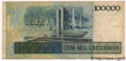 100000 Cruzeiros BRÉSIL  1985 P.205 TTB