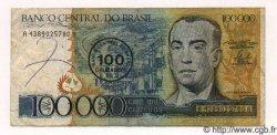 100 Cruzados sur 100000 Cruzeiros BRÉSIL  1986 P.208 TTB