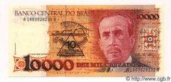 10 Cruzados Novos sur 10000 Cruzados BRÉSIL  1989 P.218 pr.NEUF