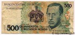 500 Cruzeiros sur 500 Cruzados Novos BRÉSIL  1991 P.226 TTB