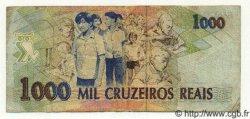 1000 Cruzeiros Reais BRÉSIL  1993 P.240 TB+ à TTB