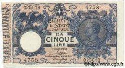 5 Lires ITALIE  1918 P.023e SUP