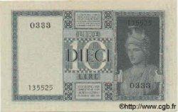 10 Lires ITALIE  1938 P.025b SUP