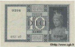 10 Lires ITALIE  1938 P.025b pr.SPL