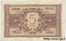 5 Lire ITALIE  1944 P.031b TTB