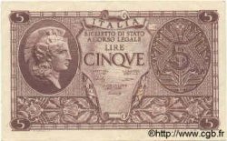 5 Lire ITALIE  1944 P.031b SUP