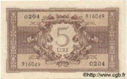5 Lires ITALIE  1944 P.031b SUP
