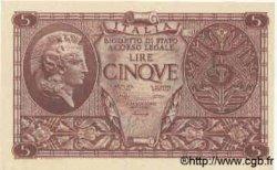 5 Lires ITALIE  1944 P.031b SPL