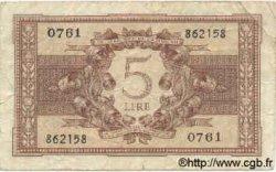 5 Lires ITALIE  1944 P.031c TB