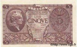 5 Lire ITALIE  1944 P.031c SUP