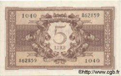 5 Lires ITALIE  1944 P.031c pr.SPL