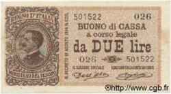 2 Lire ITALIE  1914 P.037a SUP+