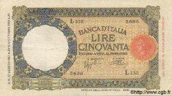 50 Lires ITALIE  1937 P.054b TTB+